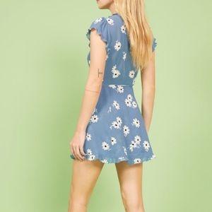 Reformation sicilia dress in daisy blue